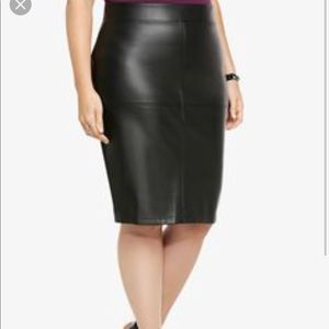 Torrid Faux Leather Front Pencil Skirt